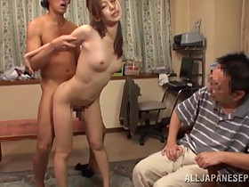 Dude watches his wife doing wild things on his friend's dick